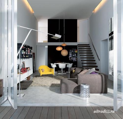 дизайн интерьера с итальянской мебелью
