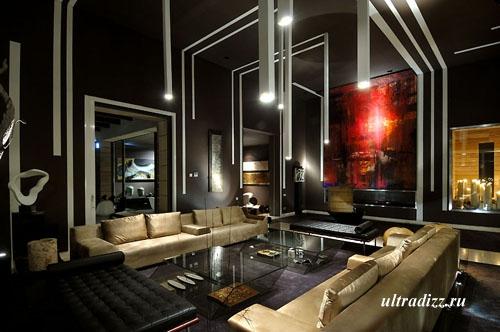уникальное освещение в гостиной