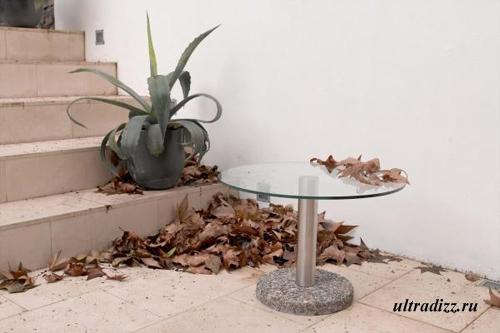 стеклянная мебель в ландшафтном дизайне
