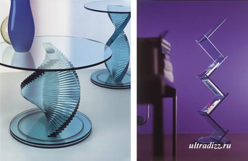 оригинальная стеклянная мебель