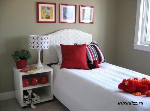 белая мебель в детской спальне