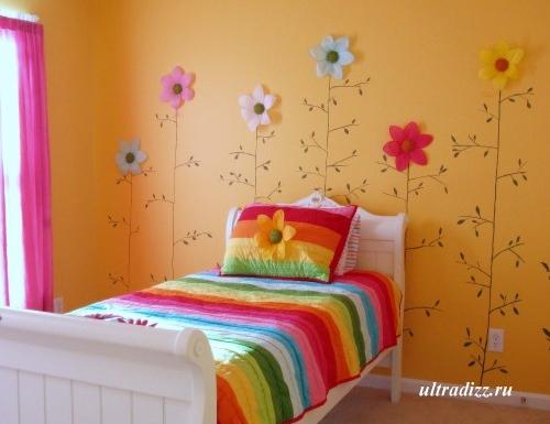 спальня девочки с белой мебелью