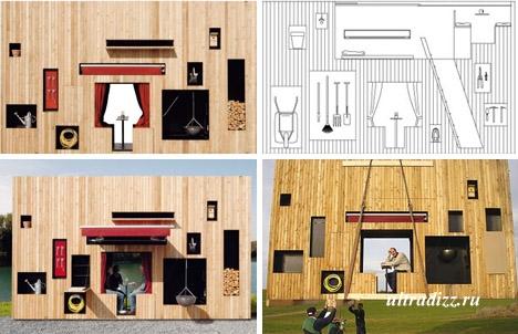 компактный летний дом