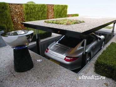 подземный гараж в частном дворе