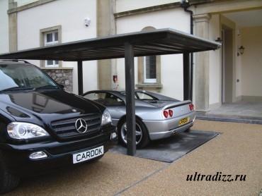 подземная парковка на два автомобиля