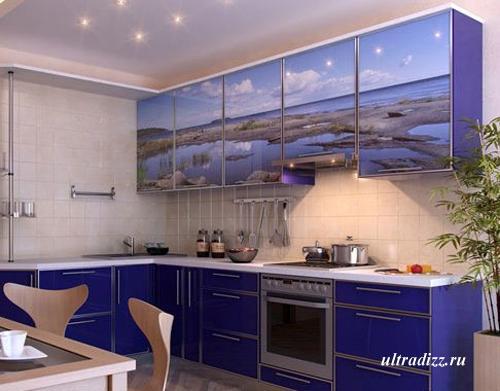 кухонная мебель с декоративным фасадом