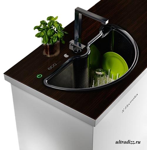 кухонная раковина с функцией мойки посуды