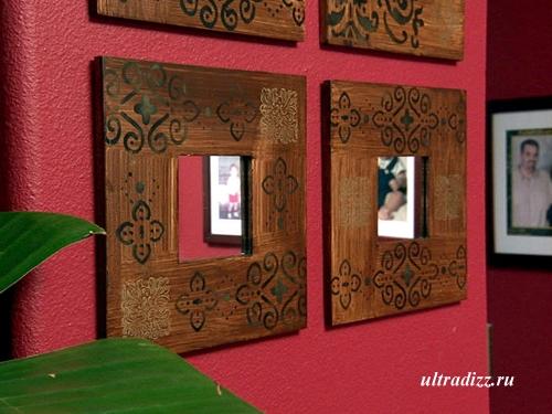 оригинальные рамки настенных зеркал