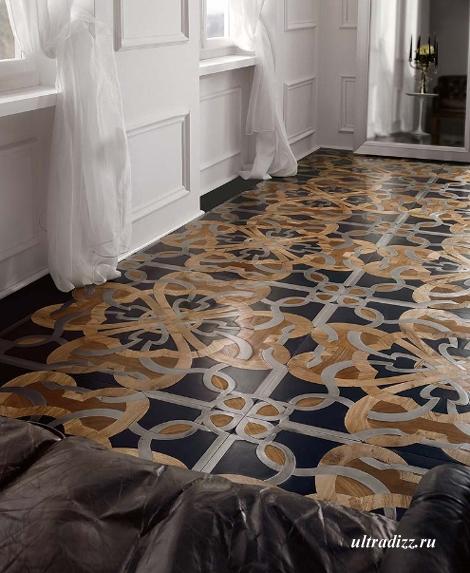оригинальный мозаичный пол