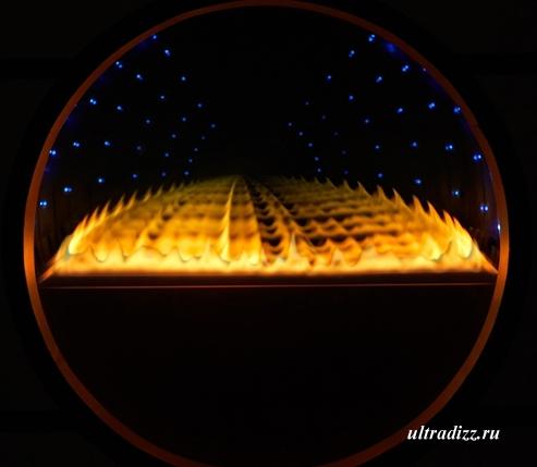 пламя газового камина Солярис