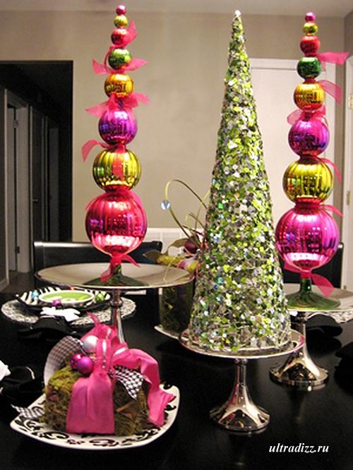 декор для новогоднего стола