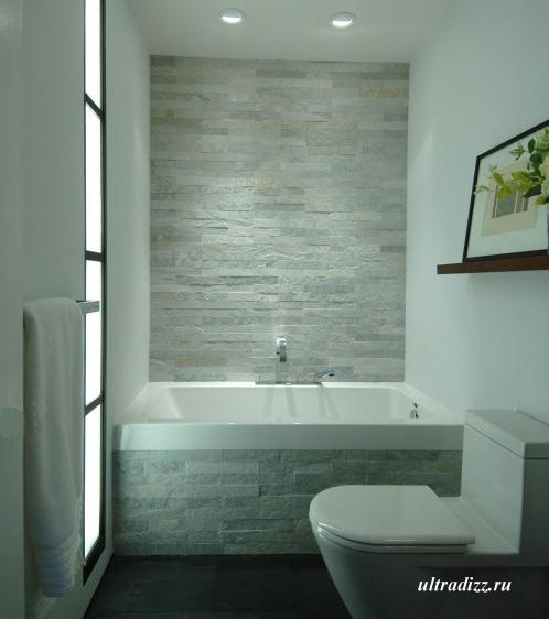 оригинальная каменная облицовка ванной