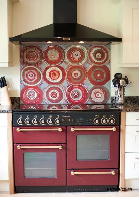 декоративный кухонный фартук из стекла 1