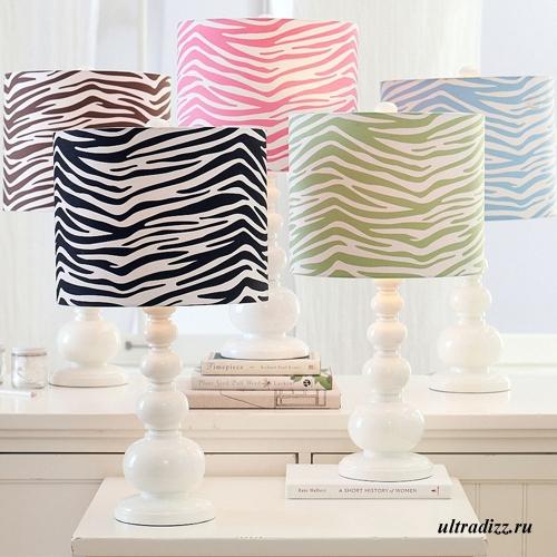 светильники с декорированием под зебру