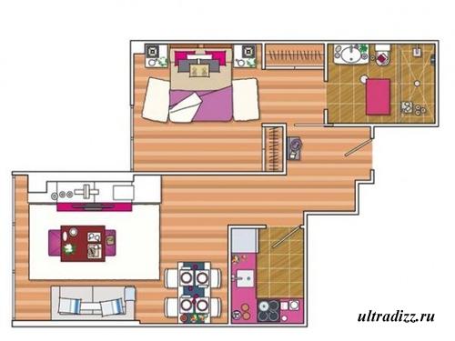 дизайн маленькой квартиры 9