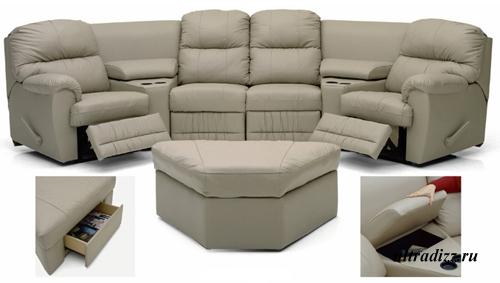 мягкая мебель для домашних кинотеатров 2
