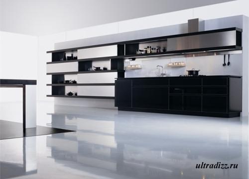 черно-белый цвет в дизайне кухни 7