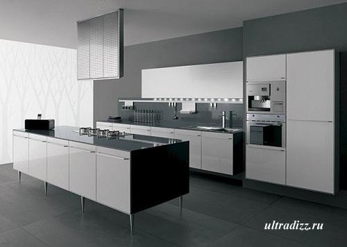 черно-белый цвет в дизайне кухни 5