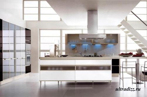 черно-белый цвет в интерьере кухни 4