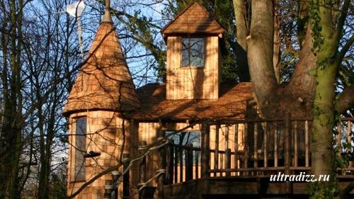 игровой дом на дереве с тарзанкой