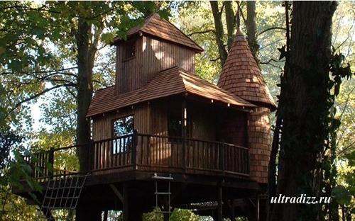 веревочная лестница и сетка для подъема в игровой дом