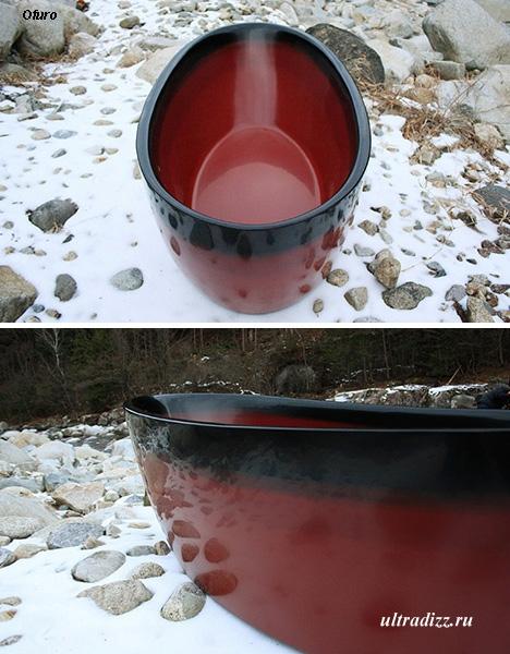 деревянная лакированная ванна