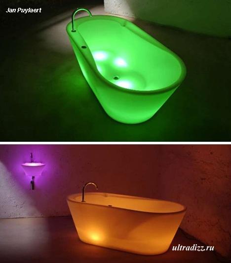 ванна со светодиодной подсветкой
