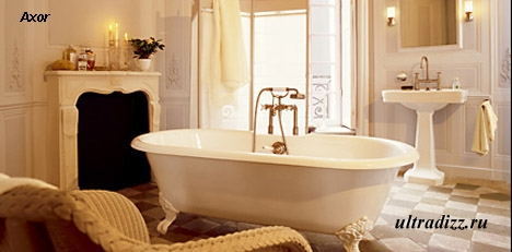 роскошная ванна в стиле ретро