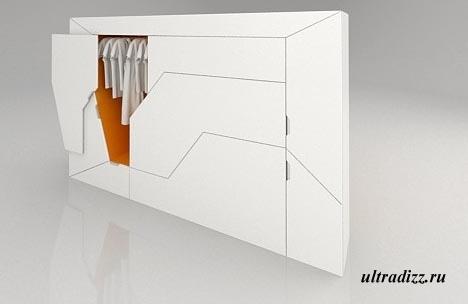 шкаф для одежды в маленькой спальне