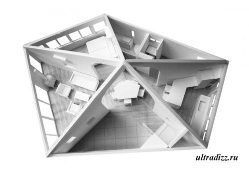 планировка необычного дома