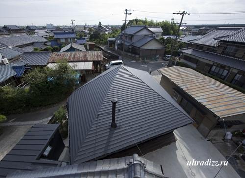 крыша пятиугольного дома