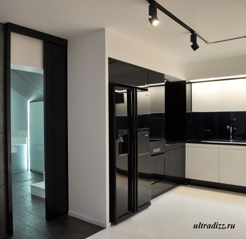 черно-белый дизайн интерьера 5