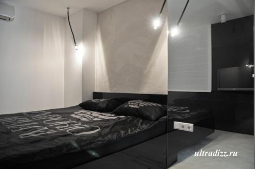 черно-белый дизайн интерьера 9