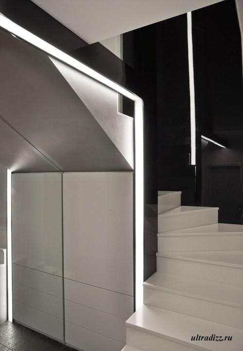черно-белый дизайн интерьера 6
