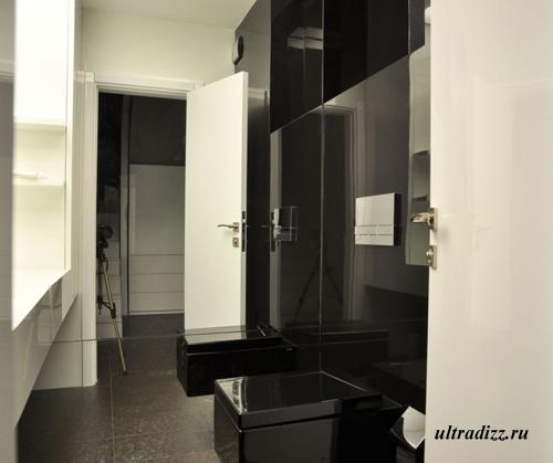 черно-белый дизайн интерьера 1