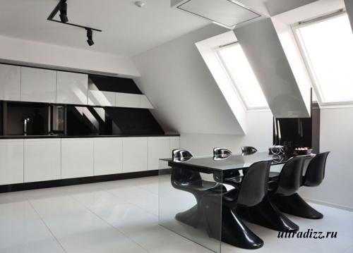 черно-белый дизайн интерьера 2