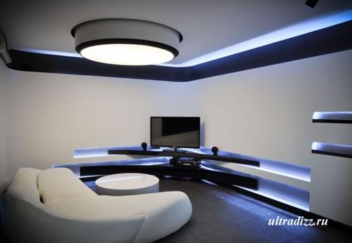 черно-белый дизайн интерьера 8