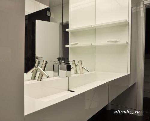 черно-белый дизайн интерьера 10