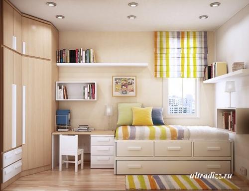 декор в дизайне маленькой детской комнаты