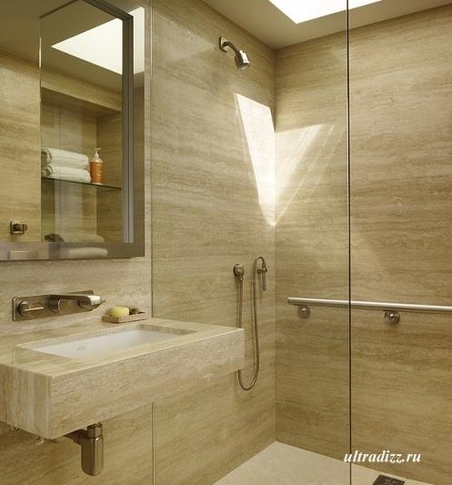 дизайн ванной со скрытыми трубами