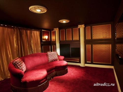 красный цвет в интерьере комнаты