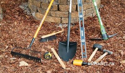 инструменты для строительства уличного очага