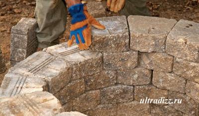 общая высота каменной кладки
