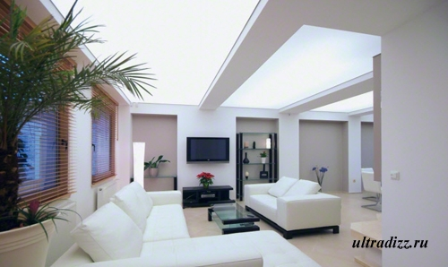 французский потолок с подсветкой