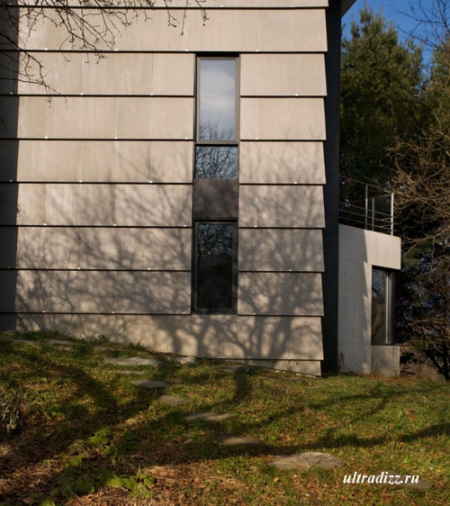 фиброцементный фасад частного дома