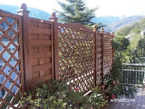 комбинированные деревянные ограждения 4
