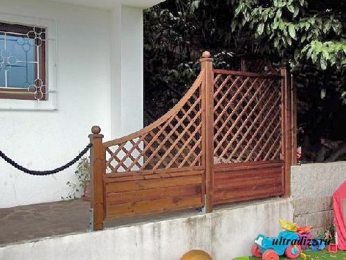 комбинированные деревянные ограждения 6