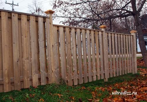 оригинальный двойной забор
