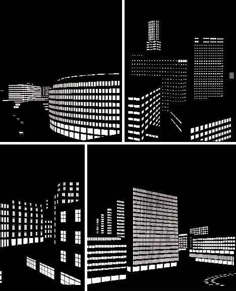 дизайн окон в виде ночного города 3