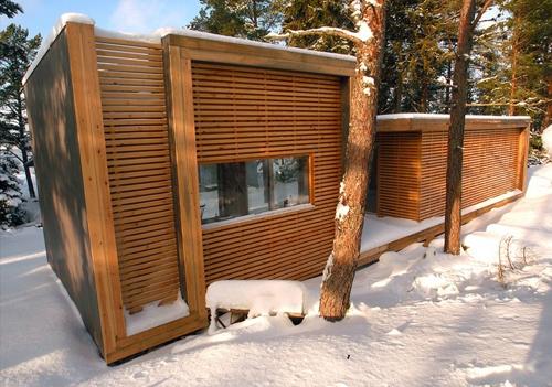 современный деревянный коттедж 3